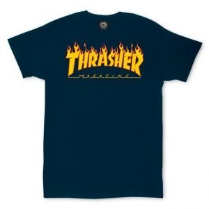 Thrasher 'Flame' Navy T-Shirt